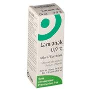 Larmabak 0,9 %, flacon de 10 ml de collyre
