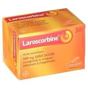 Laroscorbine 500 mg sans sucre, 30 comprimés à croquer