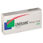 Lindilane 400 mg/25 mg, 16 comprimés