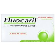 Lot dentifrice fluocaril bifluoré menthe 250 mg x2, 2 tubes de 125 ml