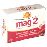 Mag 2 sans sucre 122 mg sol buvable, 30 ampoules