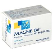 Magne b6 48 mg/5 mg, 50 comprimés enrobés