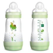 Mam Biberon Anti-Colique Easy-Start Débit 2 Nature Safari Vert, 260 ml