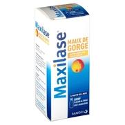 Maxilase maux de gorge alpha-amylase 200 uceip/ml, flacon de 125 ml de sirop