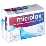 Microlax sorbitol citrate et laurilsulfoacetate de sodium, 4 unidoses de gel rectal
