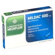 Mildac 600 mg, 15 comprimés enrobés
