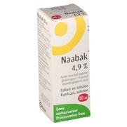 Naabak 4,9 %, flacon de 10 ml de collyre