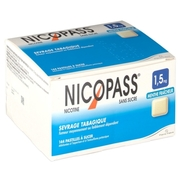 Nicopass 1,5 mg sans sucre menthe fraicheur, 36 pastilles à sucer