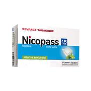 Nicopass 1,5 mg sans sucre menthe fraicheur, 96 pastilles à sucer