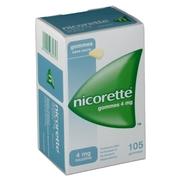 Nicorette 4 mg sans sucre, 105 gommes à mâcher