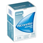 Nicorette microtab 2 mg, 100 comprimés sublinguaux