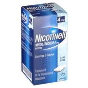 Nicotinell menthe fraicheur 4 mg sans sucre, 96 gommes à mâcher