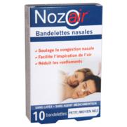 Nozoair bandelette nasale petit/moyen nez bte 10