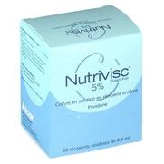 Nutrivisc 5 % (20 mg/0,4 ml), 30 flacons unidoses de 0,4 ml de collyre