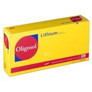 Oligosol lithium solution buvable, 28 ampoules