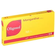 Oligosol manganese solution buvable, 14 ampoules