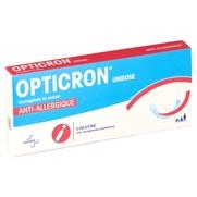 Opticron unidose, 10 flacons unidoses de 0,35 ml de collyre
