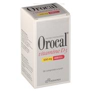 Orocal vitamine d3 500 mg/400 ui, 60 comprimés à sucer