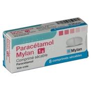 Paracetamol mylan 1 g, 8 comprimés sécables