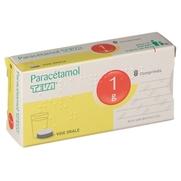 Paracetamol teva 1 g, 8 comprimés
