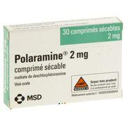 Polaramine 2 mg, 30 comprimés sécables