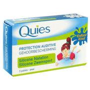 Quies protection auditive silicone natation pour enfants - 3 paires