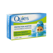 Quies protection auditive silicone natation pour adultes - 3 paires