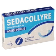 Sedacollyre cetylpyridinium 0,25 pour mille, 10 flacons unidoses de 0,4 ml de collyre