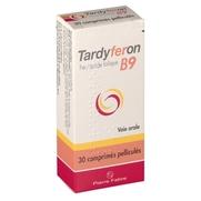 Tardyferon b9, 30 comprimés enrobés