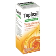 Toplexil 0,33 mg/ml sans sucre, flacon de 150 ml de solution buvable