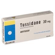 Tussidane 30 mg, 12 comprimés pelliculés sécables