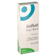 Unifluid 6 mg/ 0,4 ml, 36 flacons unidoses de 0,4 ml de collyre