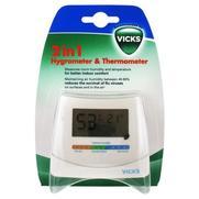 Vicks hygromètre et thermomètre 2 en 1