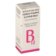 Vitamine b 12 allergan 0,5 pour mille, flacon de 5 ml de collyre