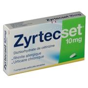 Zyrtecset 10 mg, 7 comprimés pelliculés sécables